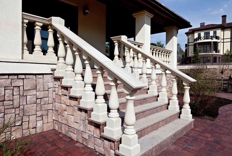 фасадные лестницы и перила фото